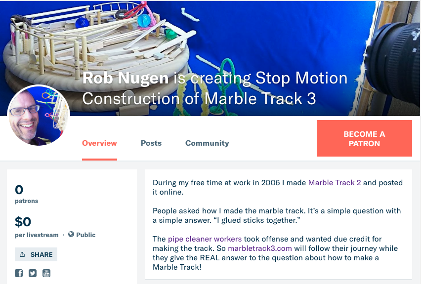 Support Marble Track 3 Construction on Patreon! (first draft video)