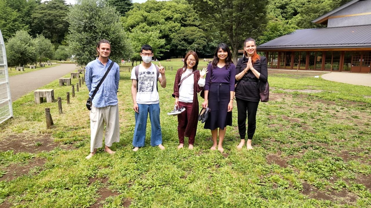 Max, Yuma, Hiro, Yuna, Emico after walking meditation