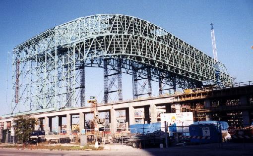 Astros Field under construction c. 1999