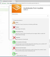 Audible app suspicious permissions 2018-08-21